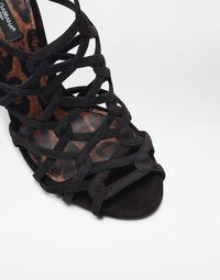 SUEDE SANDALS WITH LEO SOLE