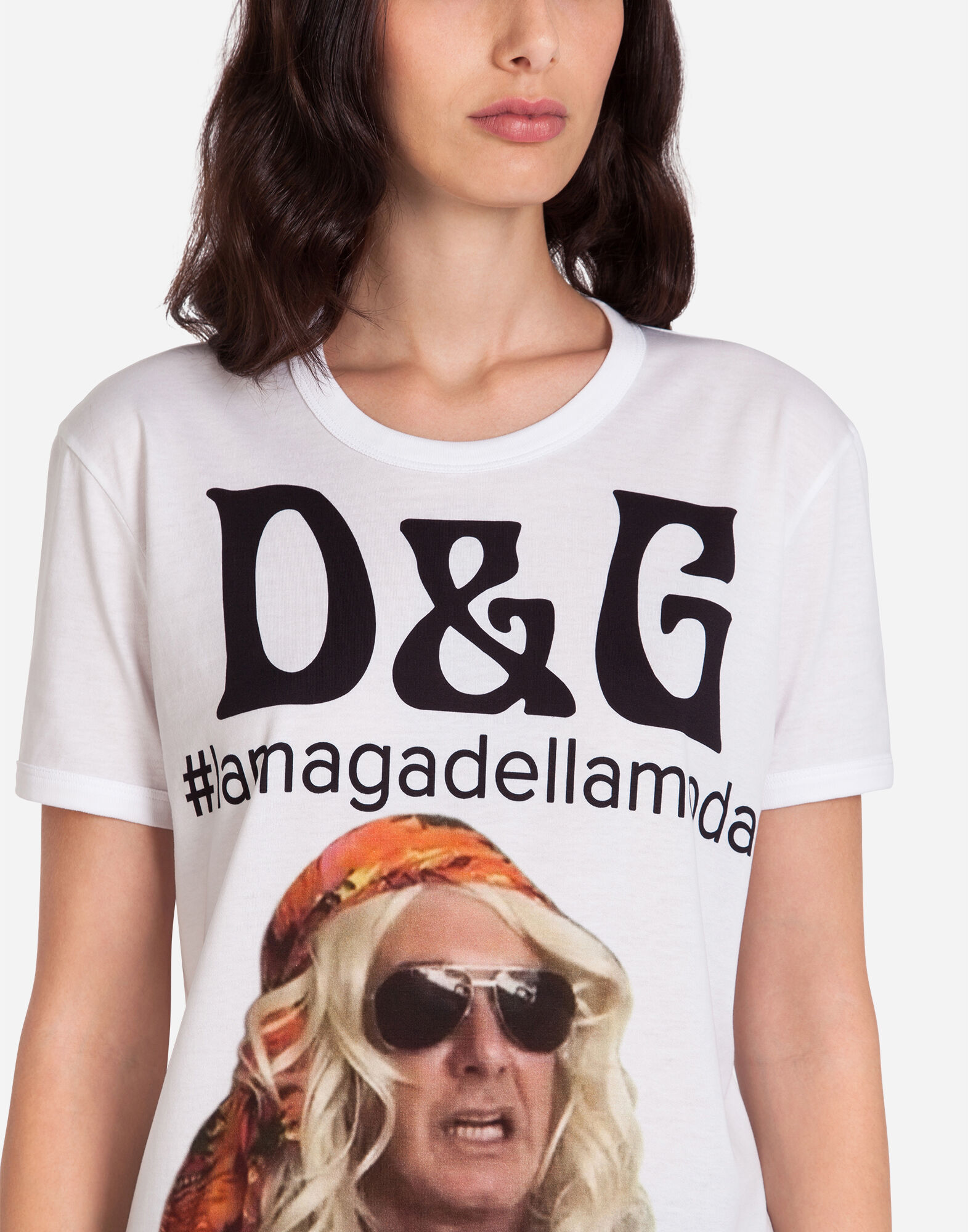 T-SHIRT WITH #LAMAGADELLAMODA PRINT
