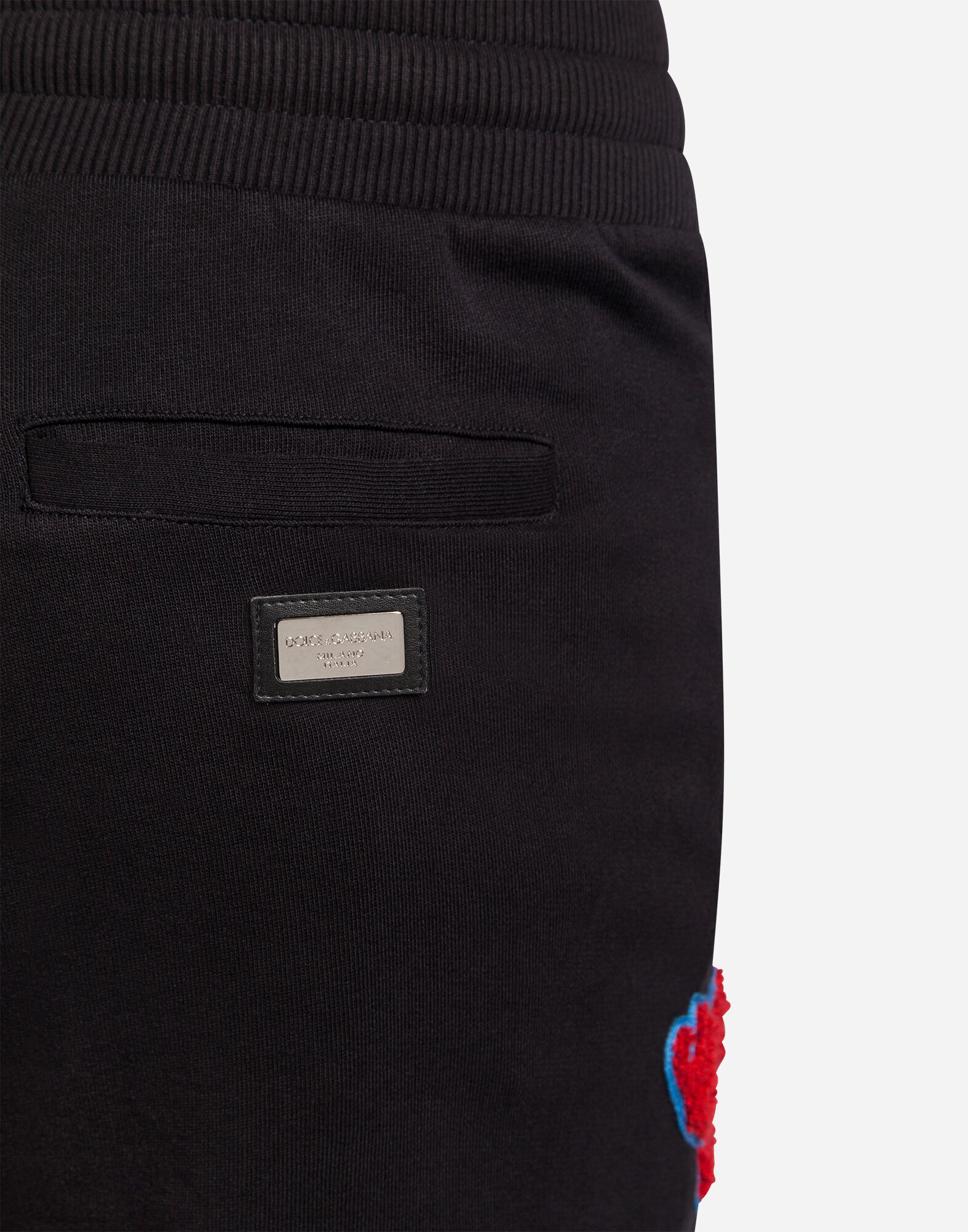 COTTON JOGGING PANTS WITH PATCHES