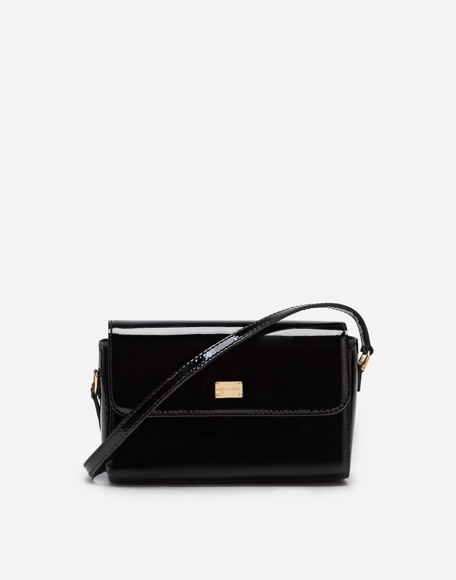 PATENT LEATHER SHOULDER BAG