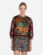JACQUARD SWEATSHIRT WITH PATCH