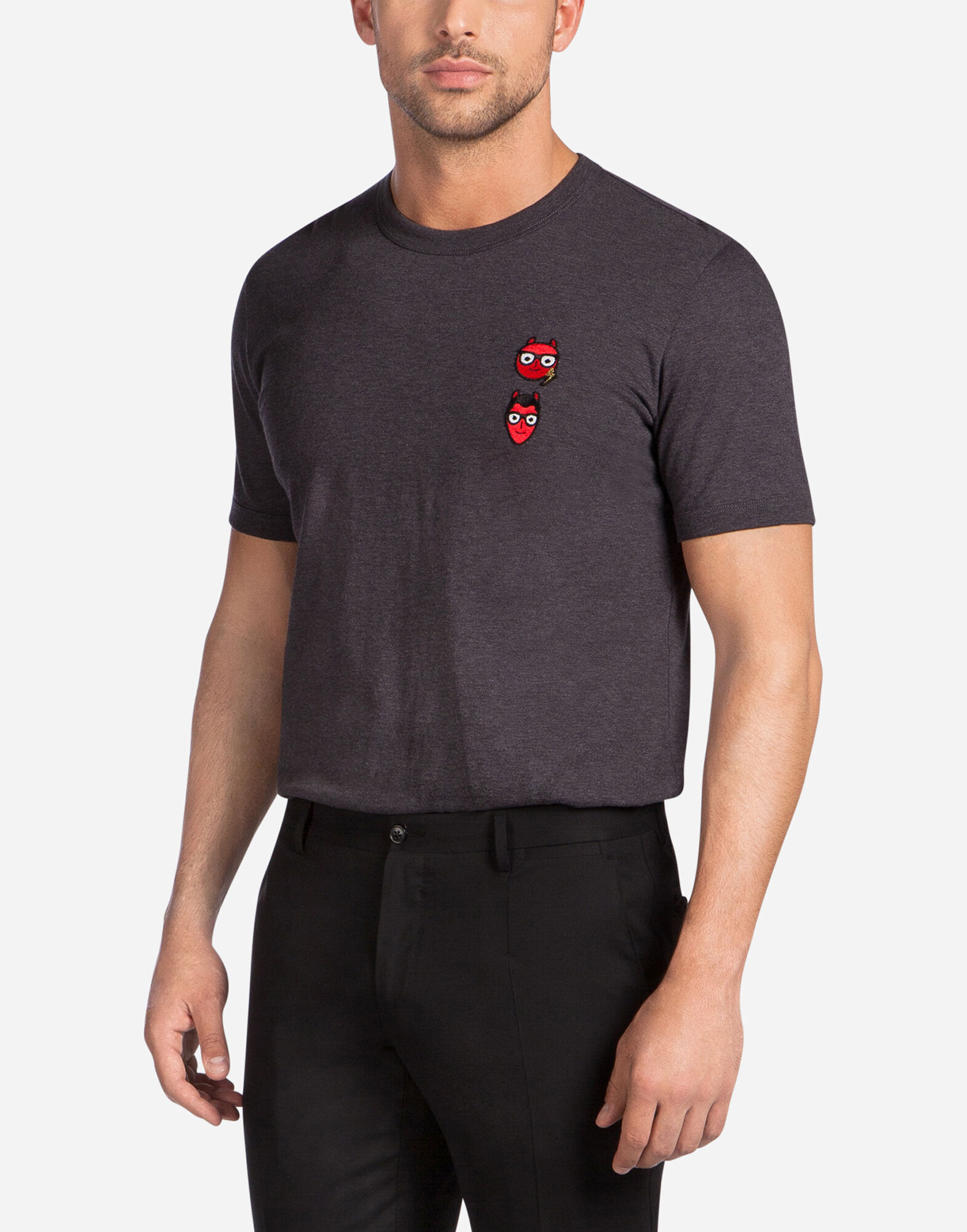 COTTON T-SHIRT WITH DESIGNERS' PATCH