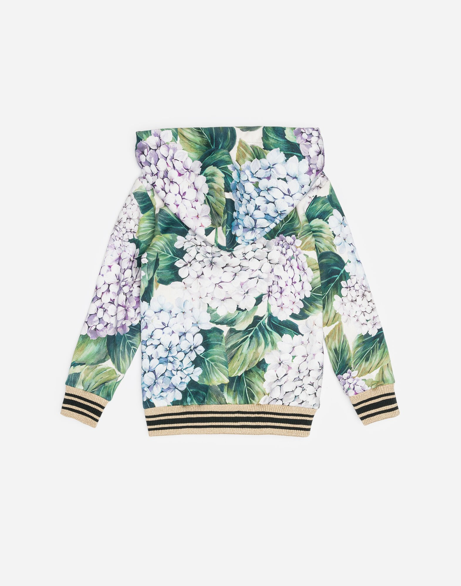 PRINTED COTTON HOODIE WITH PATCH