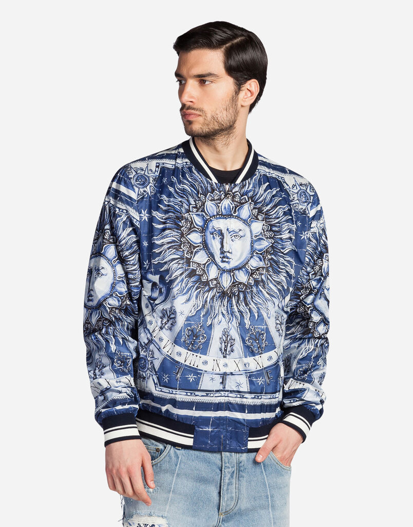 BOMBER IN PRINTED NYLON
