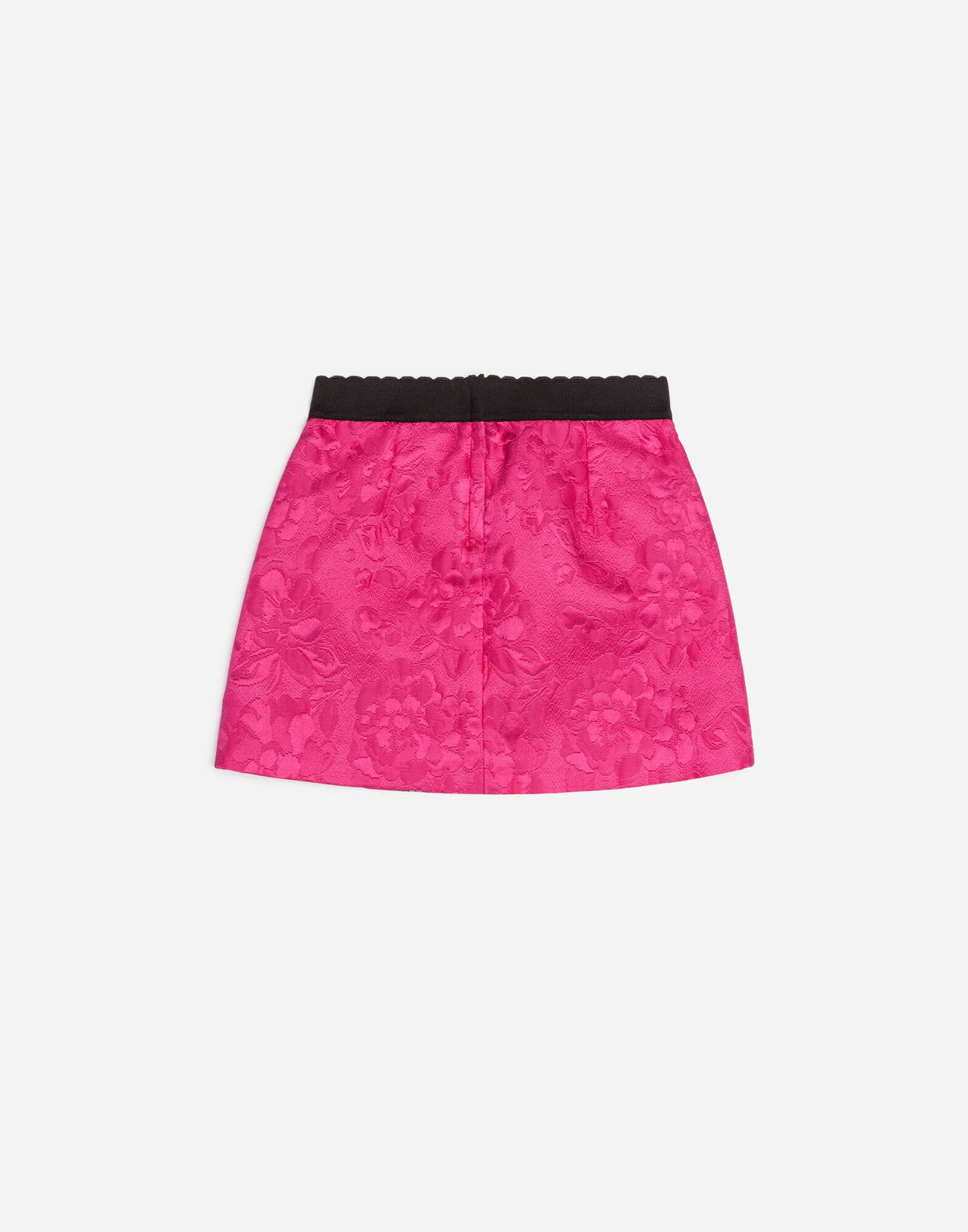 PRINTED BROCADE SKIRT