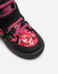 PRINTED NYLON SNOW ANKLE BOOTS