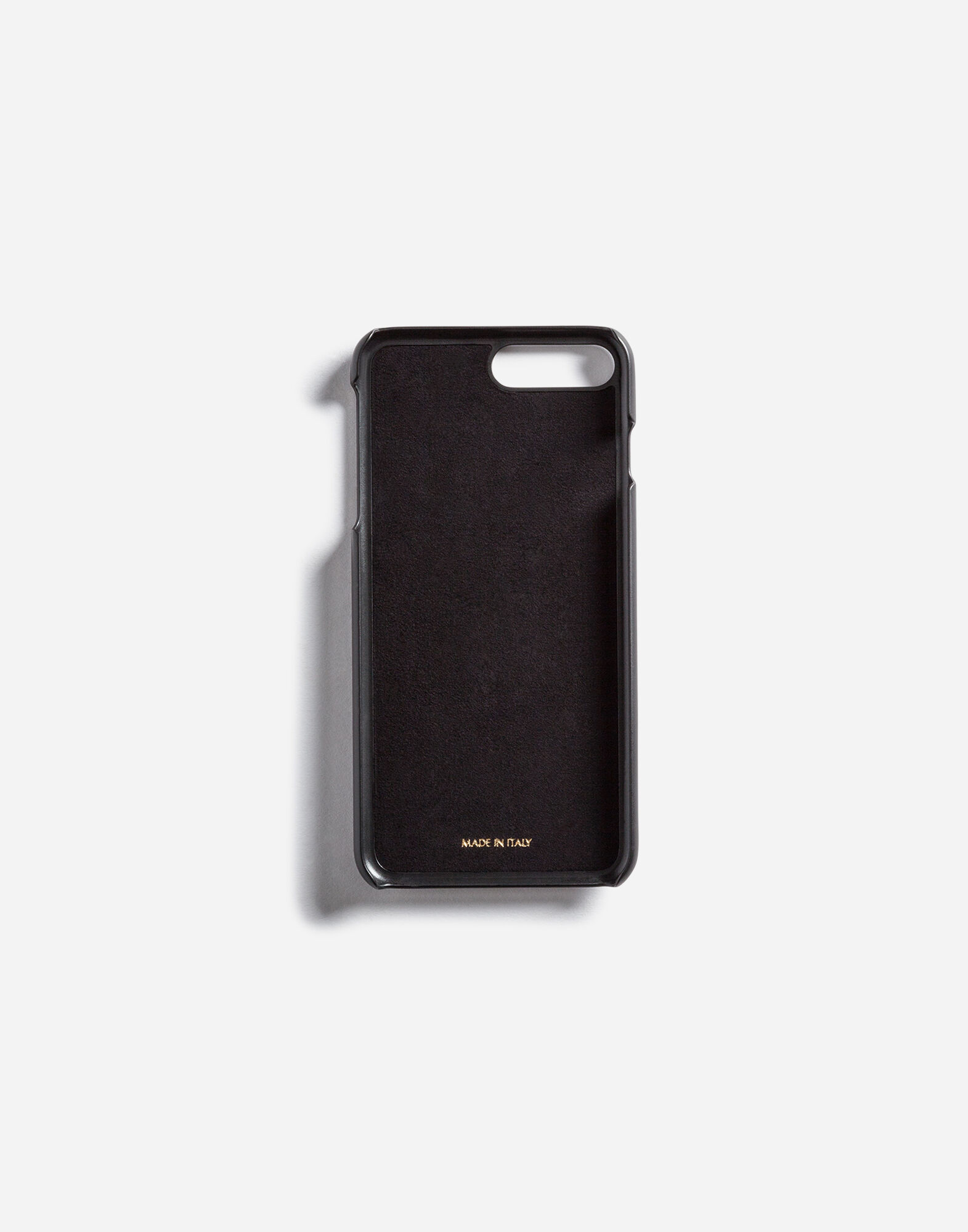 IPHONE 7 PLUS COVER WITH LEATHER DETAIL AND LOGO PATCH