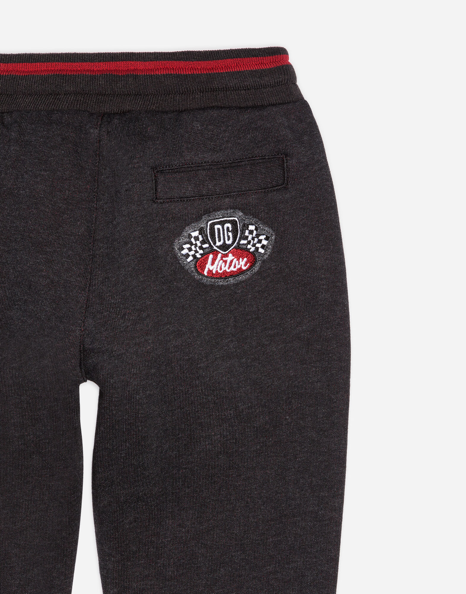 JOGGING PANTS IN COTTON WITH PATCHES