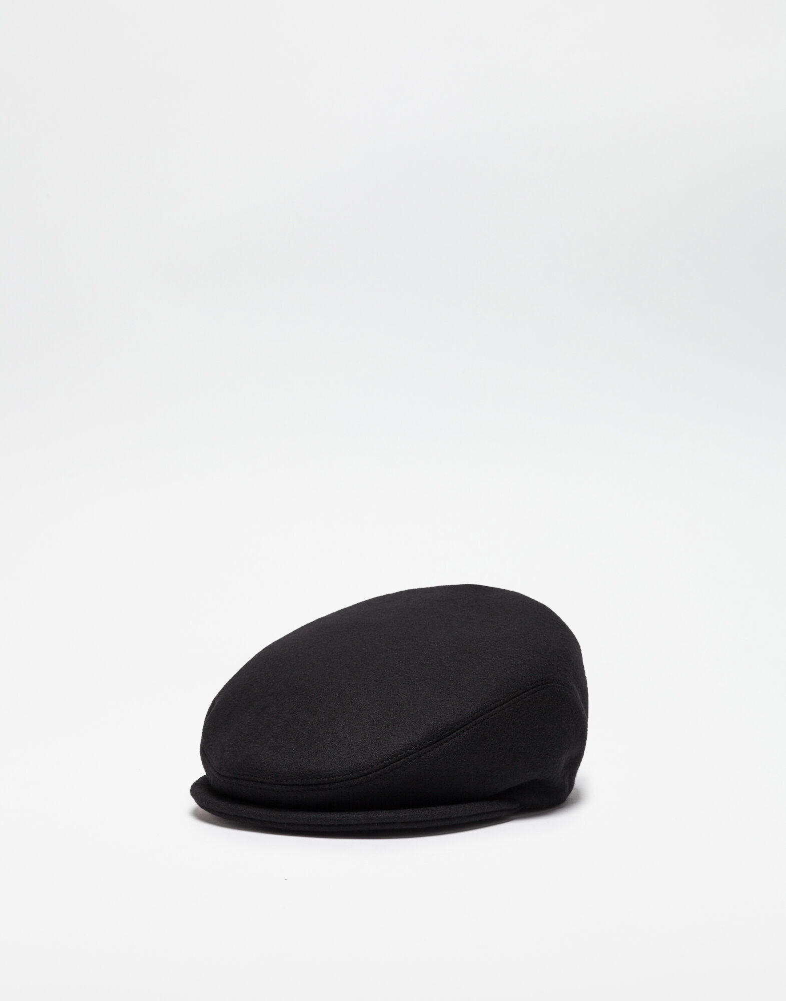 WOOL FLAT CAP WITH PATCH