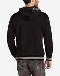 HOODIE WITH DESIGNER COTTON PATCH