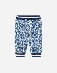 PRINTED COTTON JOGGING PANTS