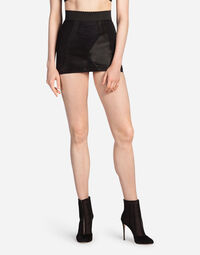 SHORT BODYCON SKIRT IN STRETCH SHAPER FABRIC