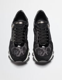 SUEDE SNEAKERS WITH LEOPARD DETAILS