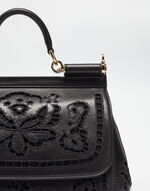 MEDIUM SICILY HANDBAG IN NAPPA LEATHER WITH CUT OUT DETAILS