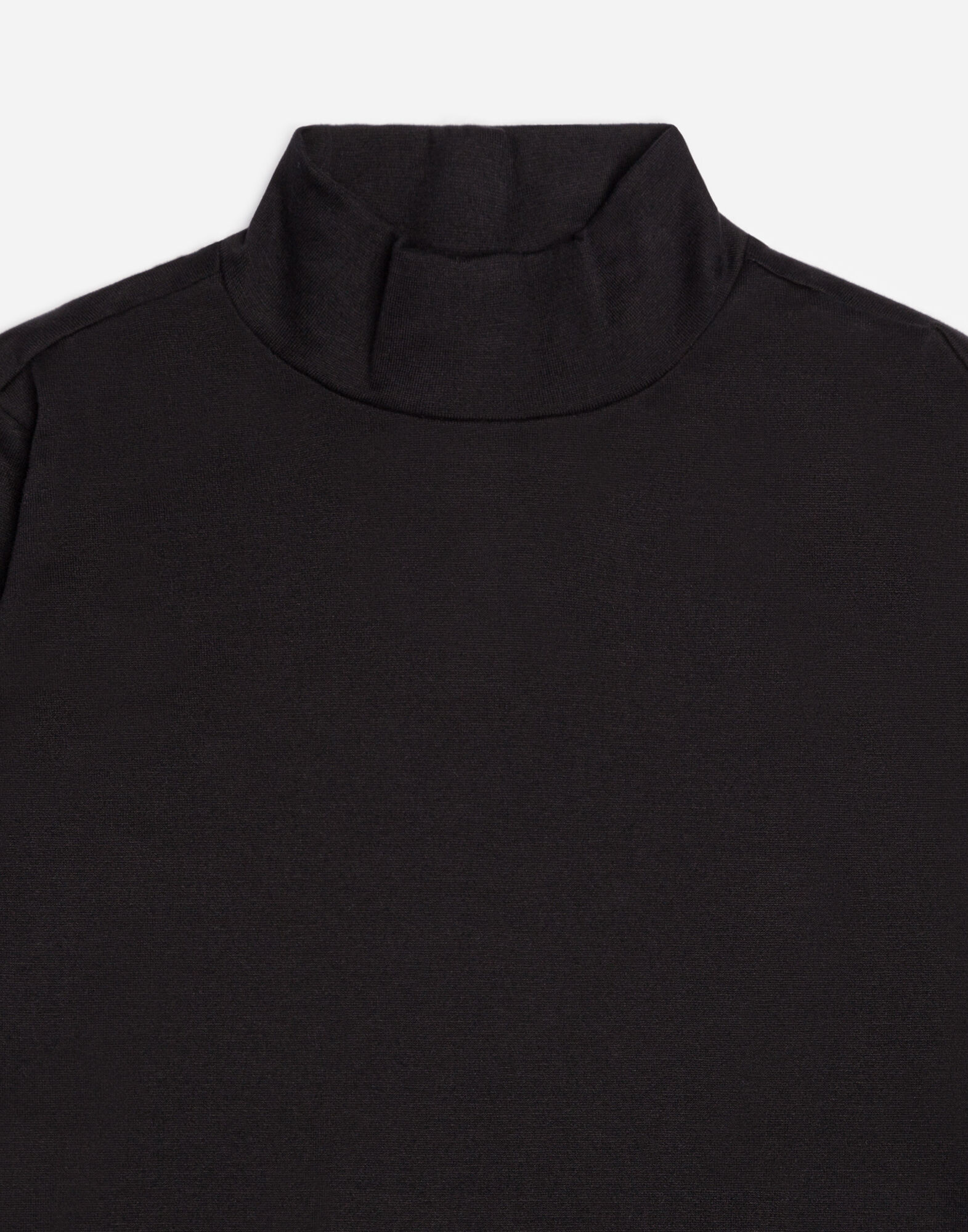 HIGH-NECK COTTON T-SHIRT