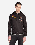 NYLON BOMBER JACKET WITH PATCHES