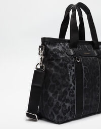 PRINTED NYLON HAND BAG