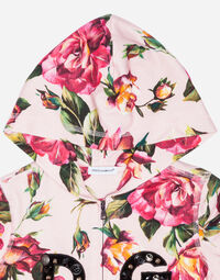 PRINTED COTTON SWEATSHIRT WITH PATCH