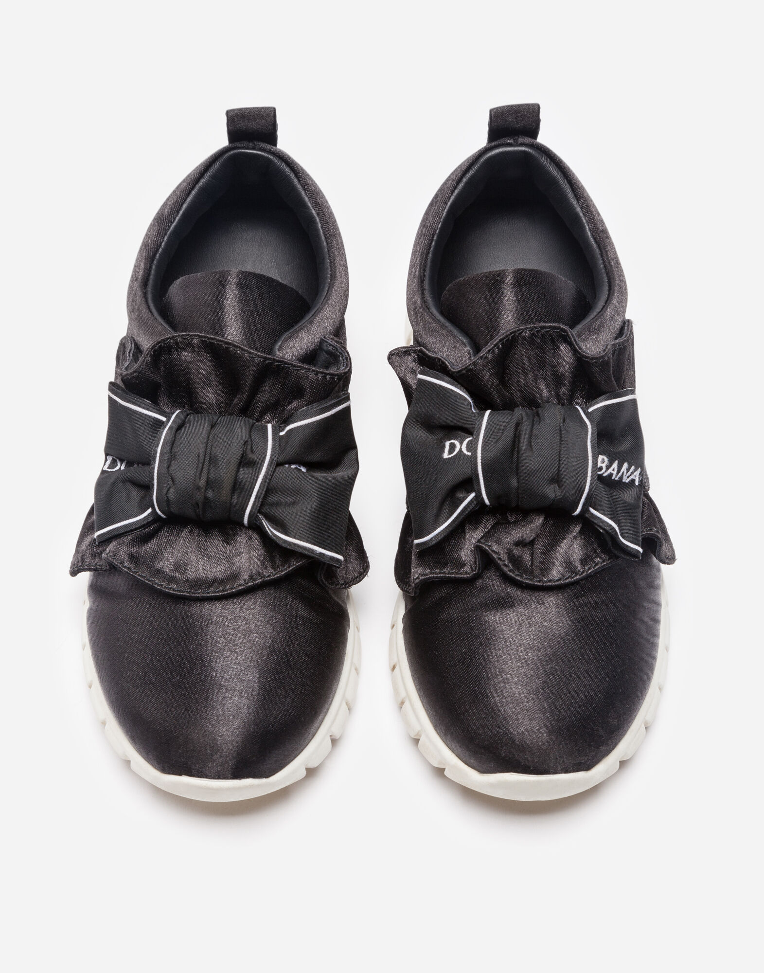 Dolce&Gabbana SATIN SNEAKERS WITH BOW