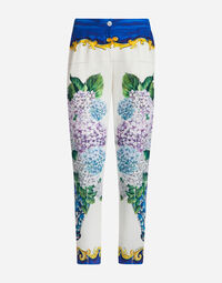 PRINTED SILK TROUSERS