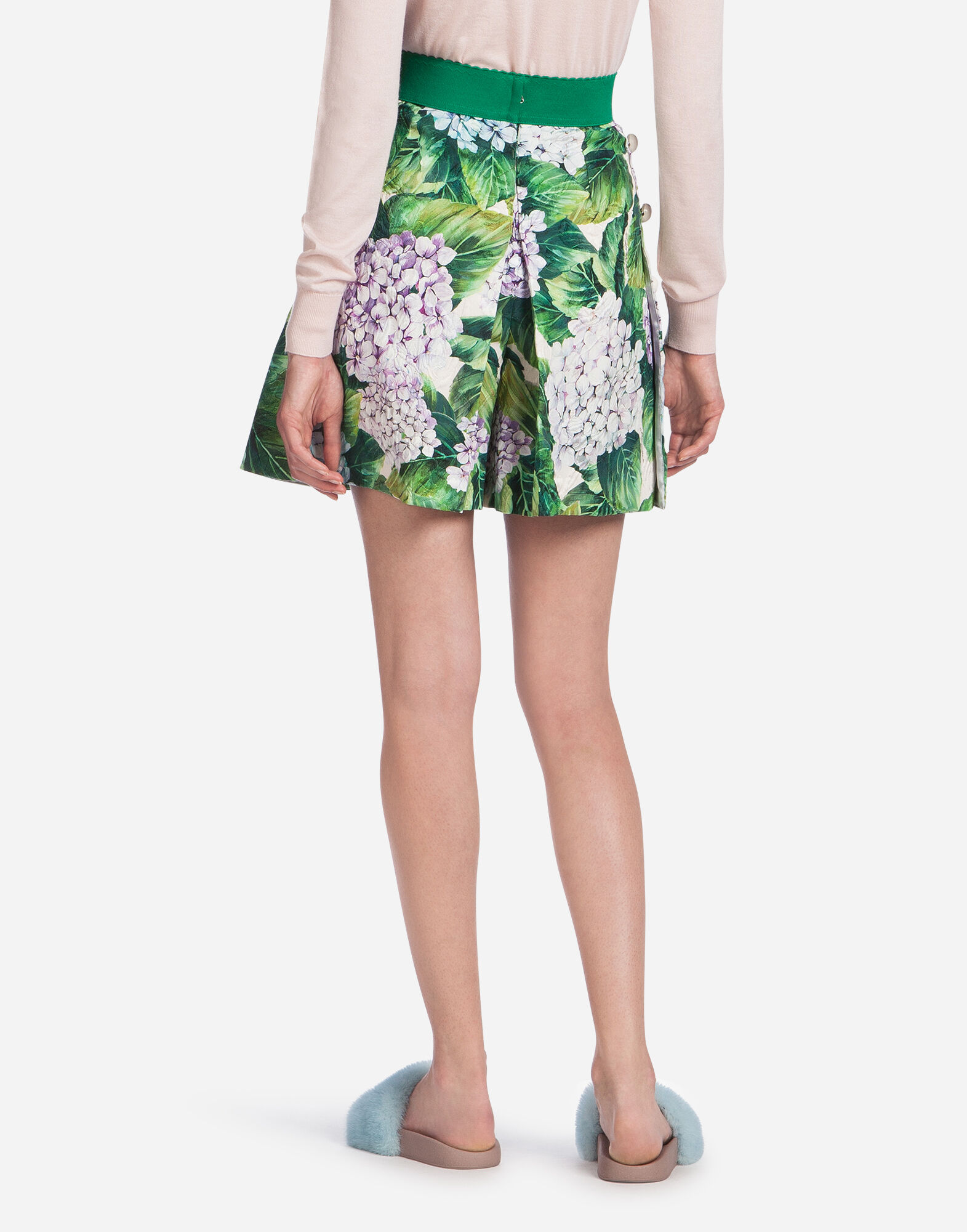 SKORTS IN PRINTED BROCADE