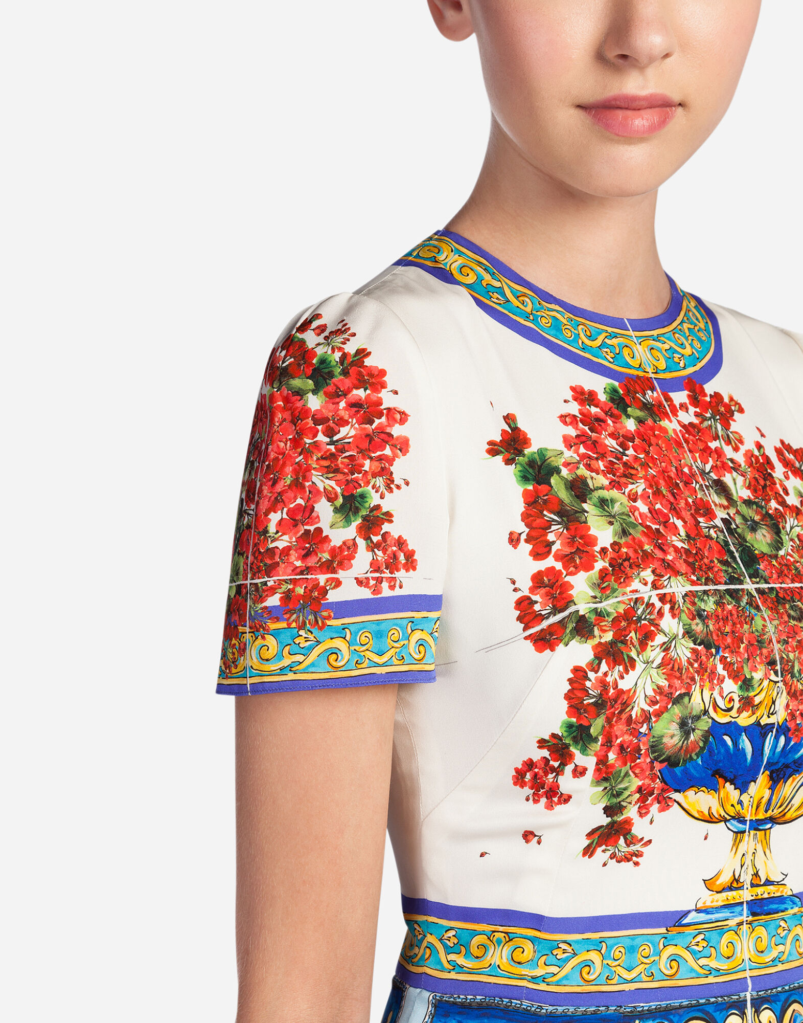 Dolce&Gabbana PRINTED SILK DRESS