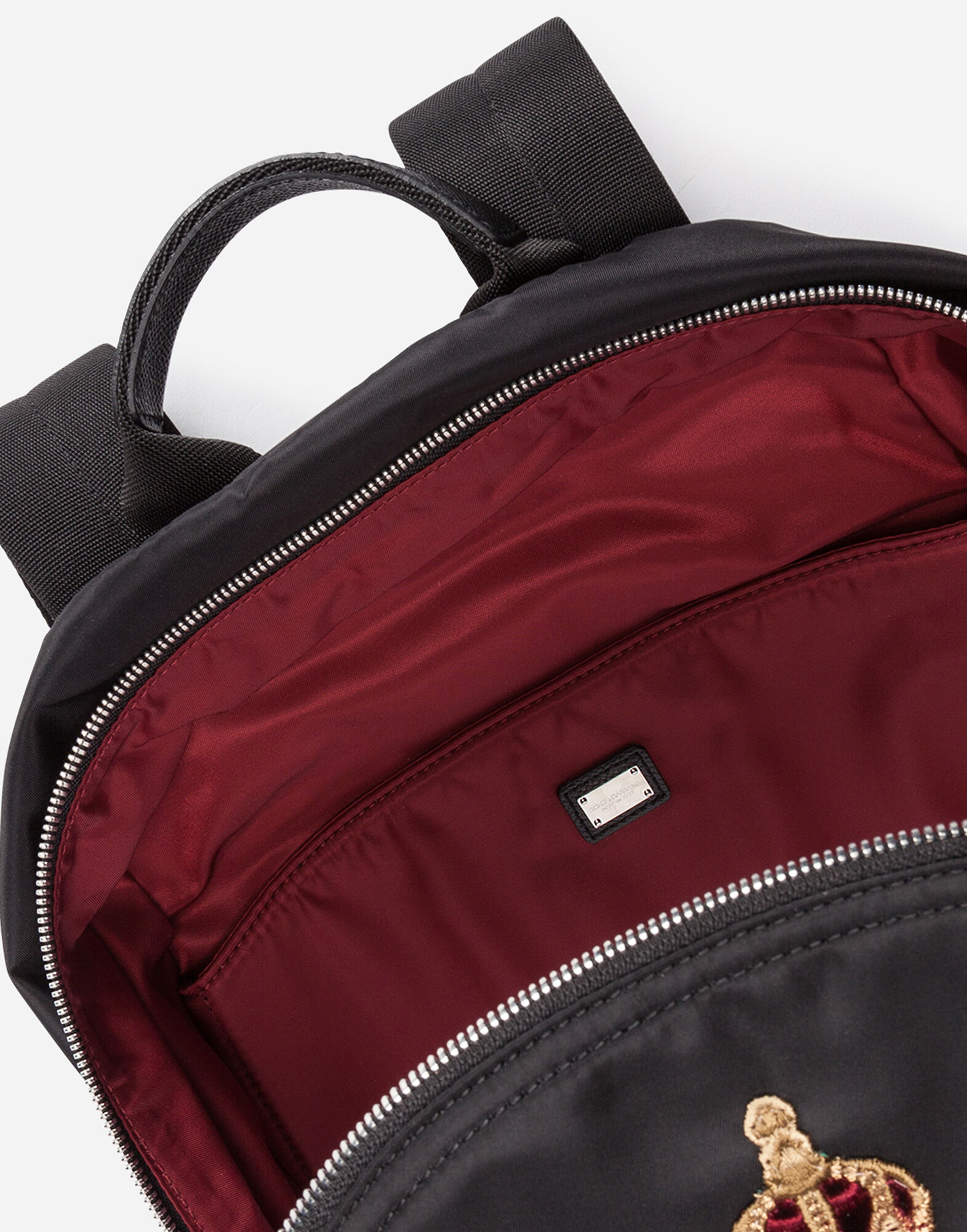 NYLON VULCANO BACKPACK WITH PATCH