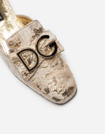 BROCADE LUREX SLIPPERS WITH LOGO BUCKLE