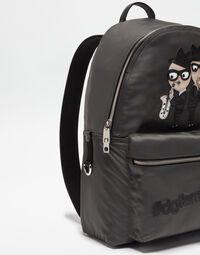 VOLCANO NYLON BACKPACK WITH DESIGNER PATCH