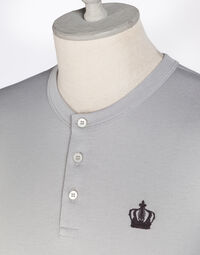 HENLEY SHIRT WITH EMBROIDERY
