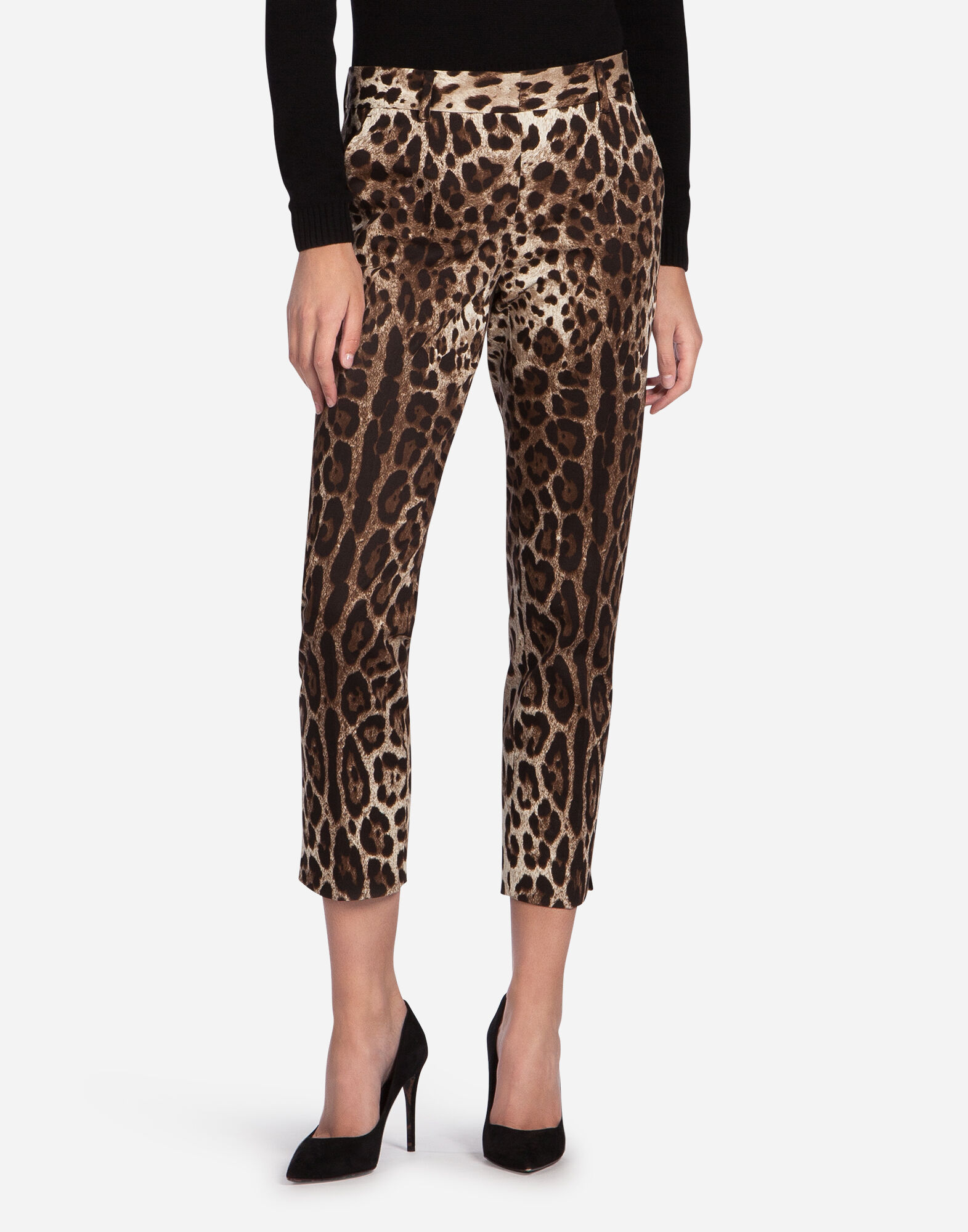 PANTS IN PRINTED COTTON