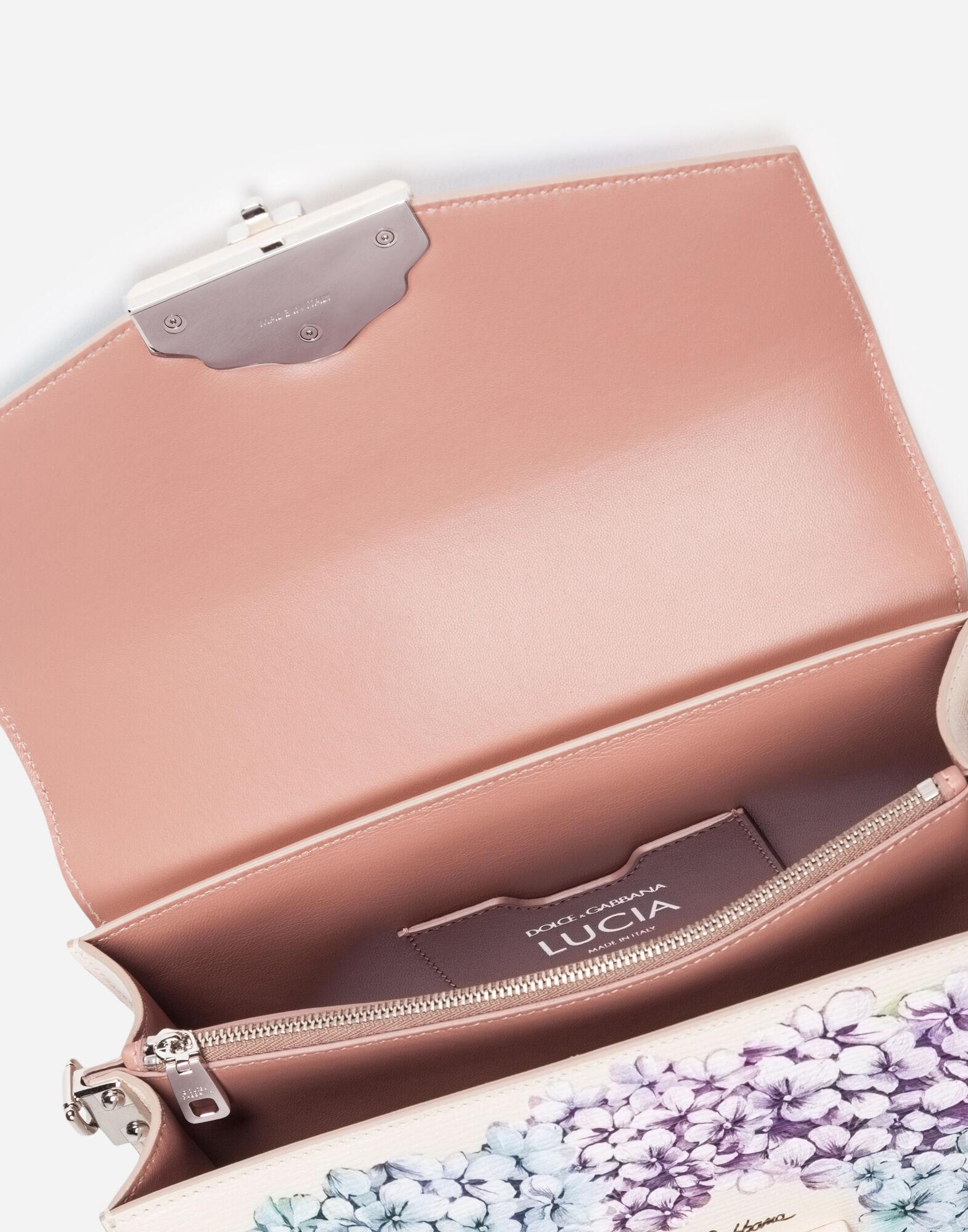 Dolce&Gabbana PRINTED LEATHER LUCIA SHOULDER BAG