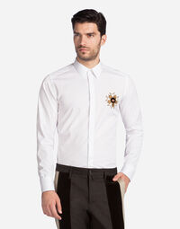 COTTON GOLD FIT SHIRT WITH PATCH