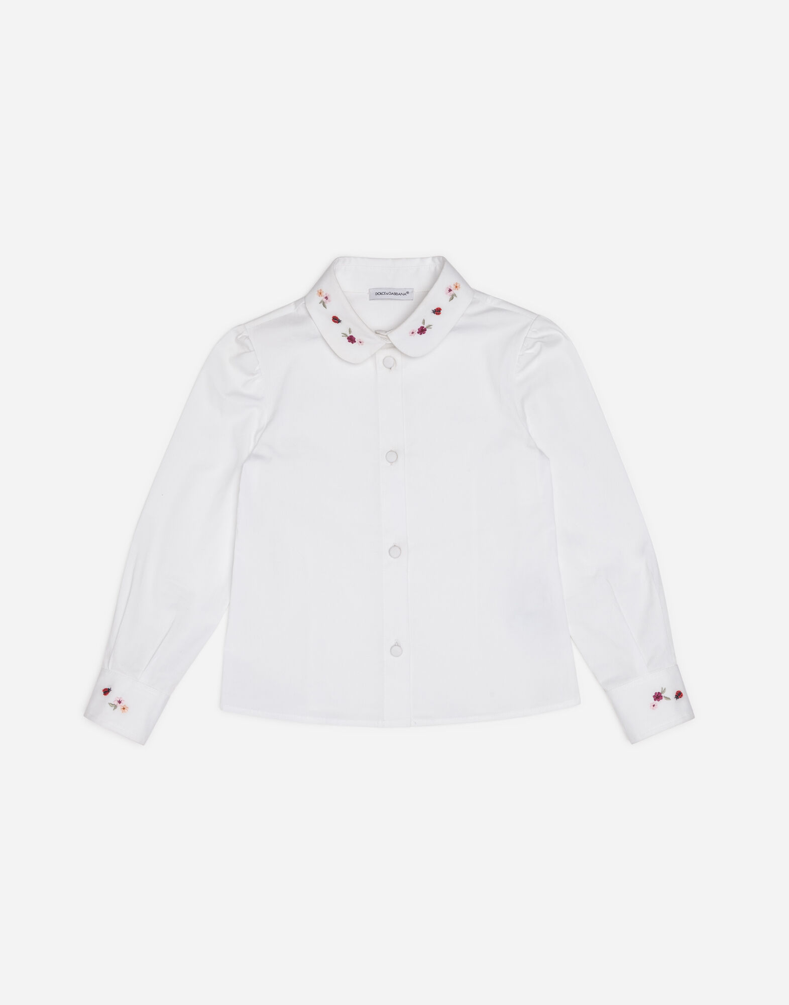 COTTON SHIRT WITH EMBROIDERED DETAILS