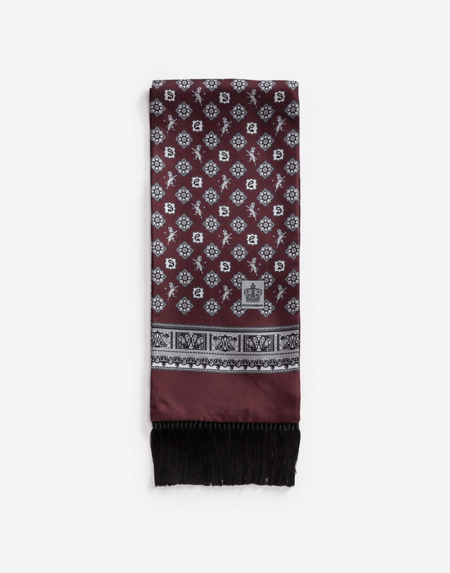 SCARF IN PRINTED SILK