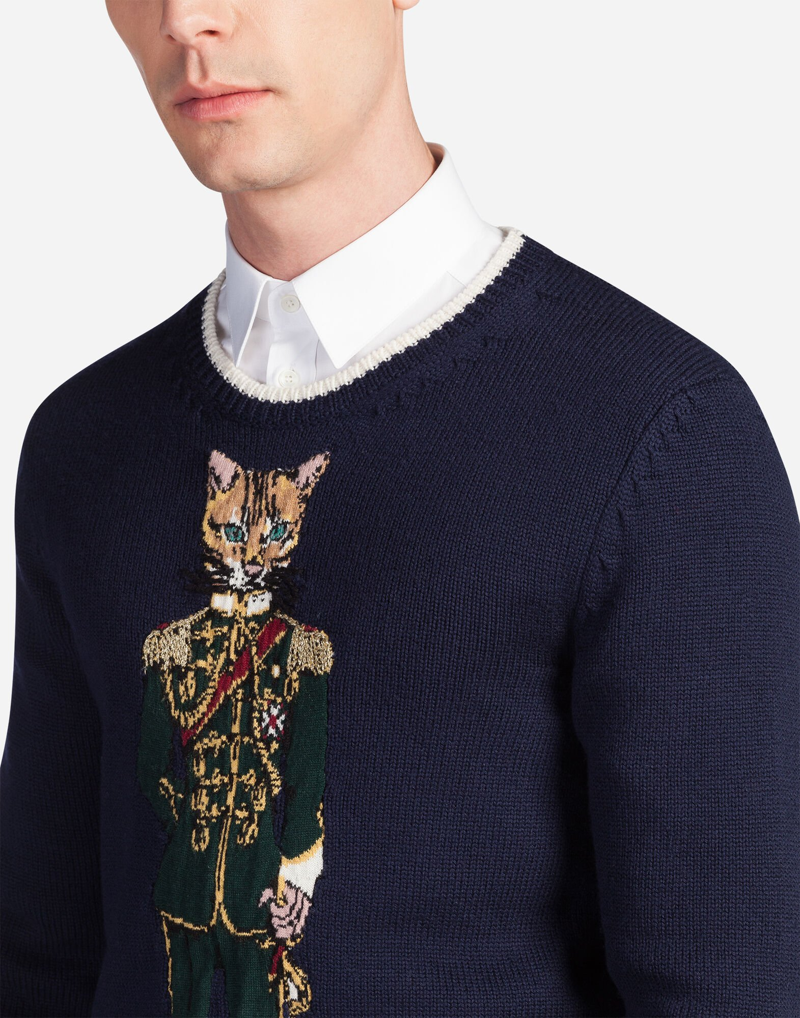 WOOL SWEATER WITH EMBROIDERY