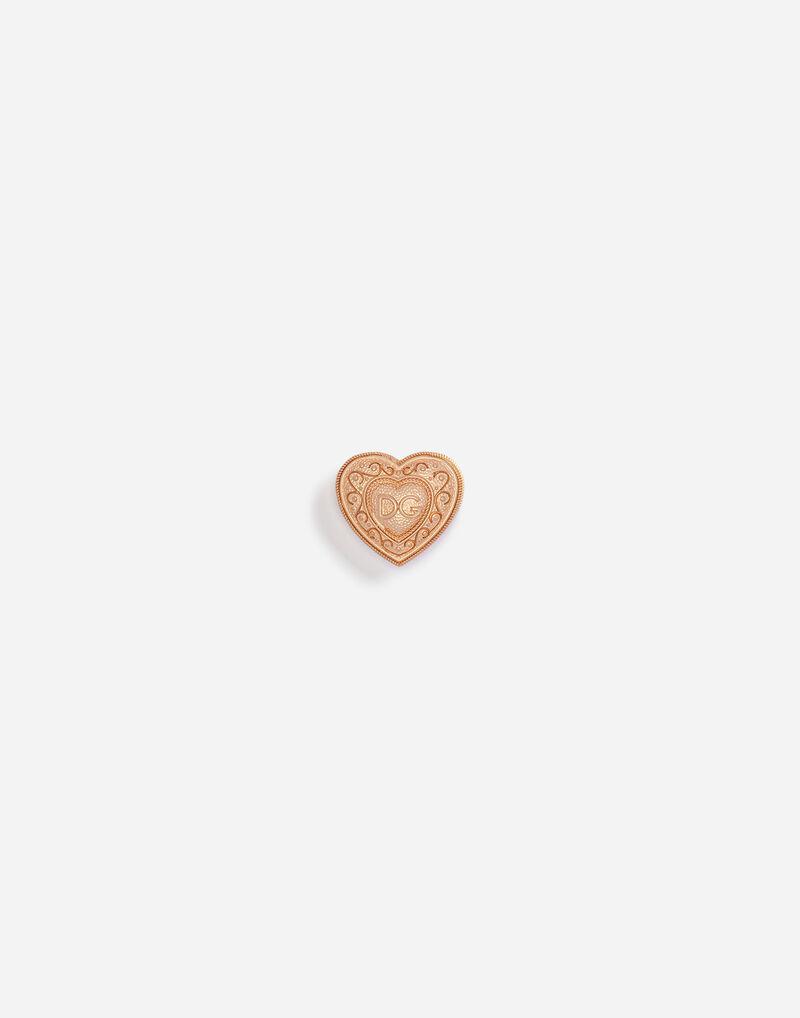 GALVANIZED METAL HEART BROOCH