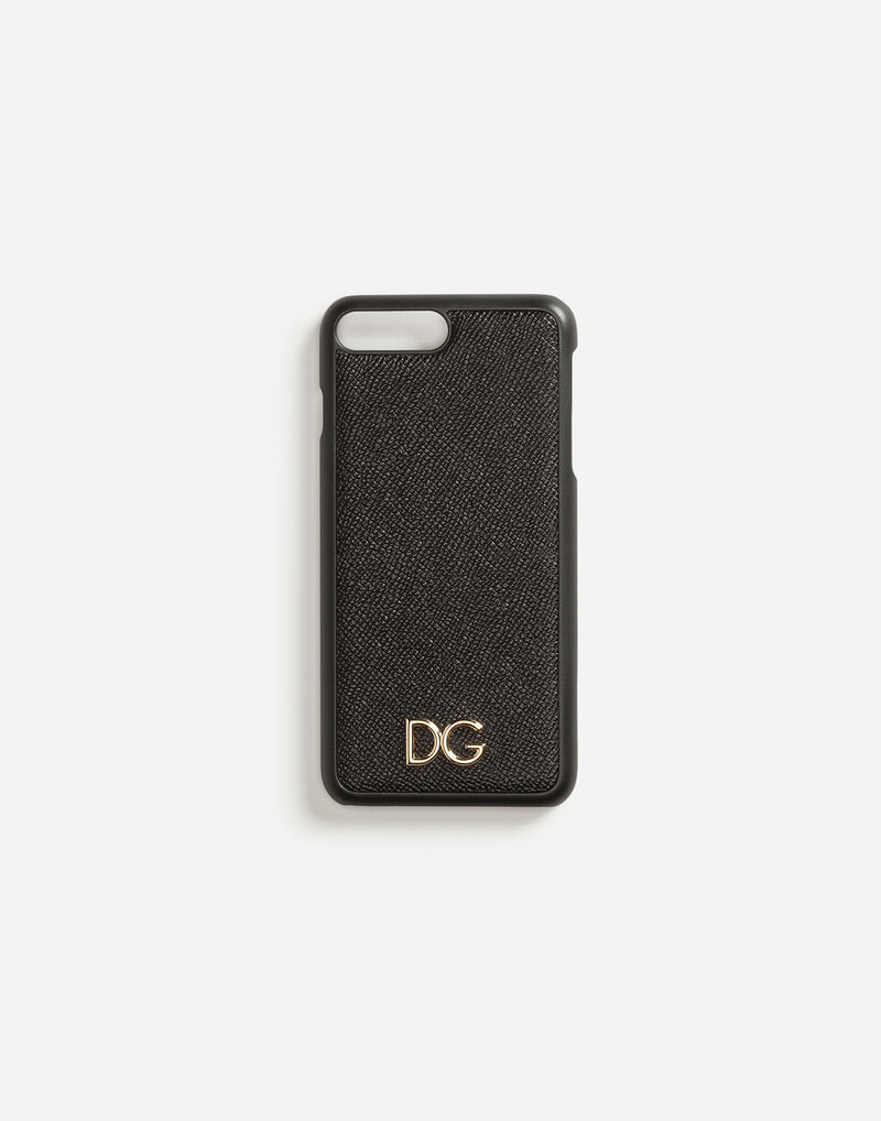DAUPHINE CALFSKIN IPHONE 7 PLUS COVER WITH DG LOGO