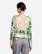 BROCADE JACKET WITH JEWEL BUTTONS