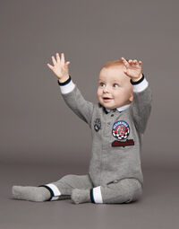 COTTON FLEECE ONESIE WITH PATCH