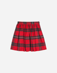 TARTAN COTTON SKIRT