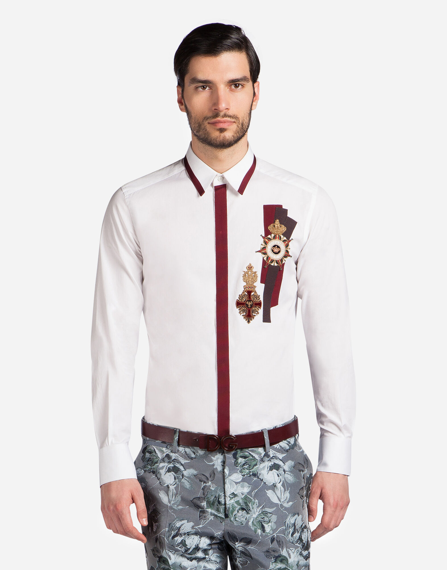 Dolce&Gabbana COTTON GOLD FIT SHIRT WITH PATCH