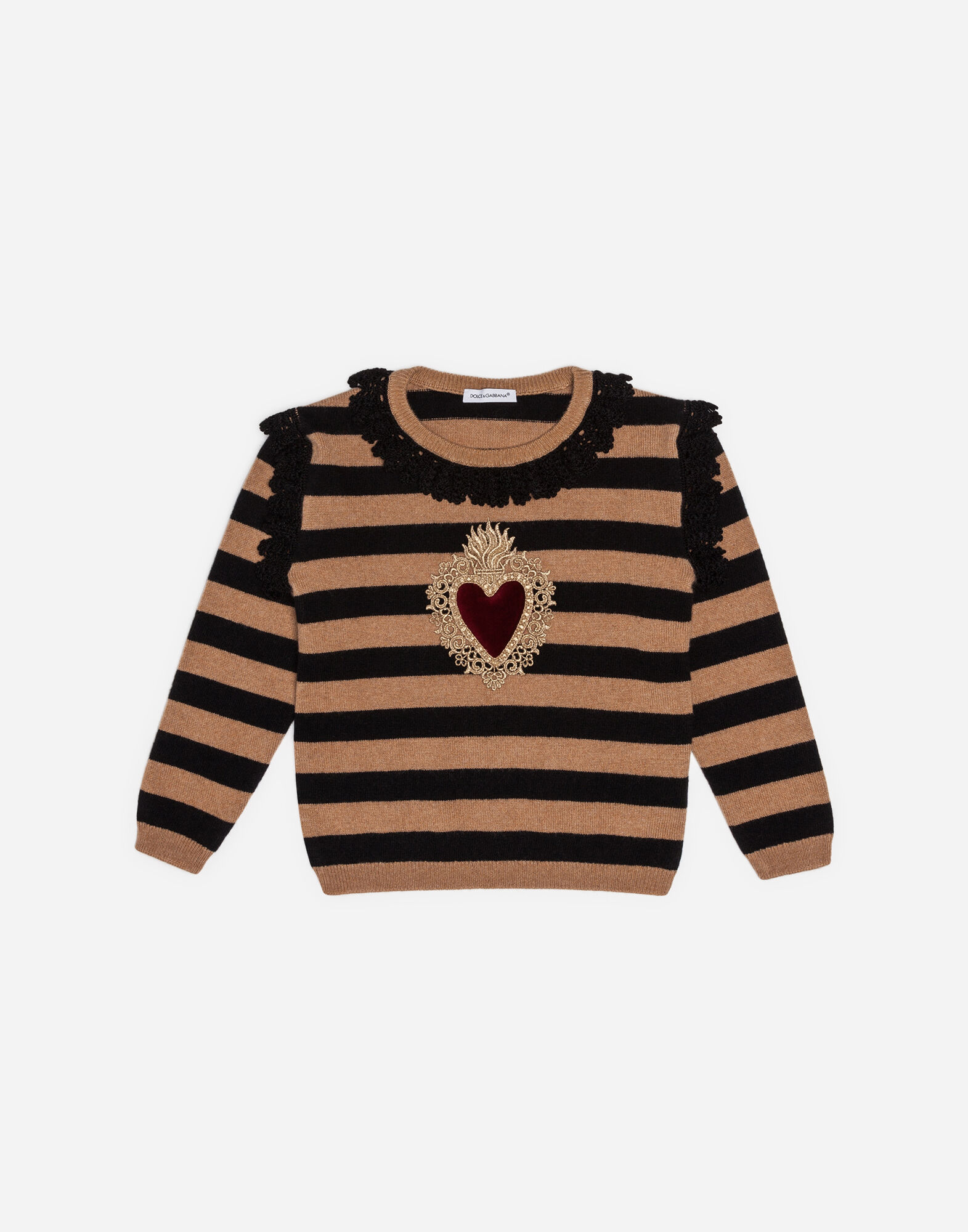WOOL AND CASHMERE BLEND SWEATER WITH EMBROIDERY