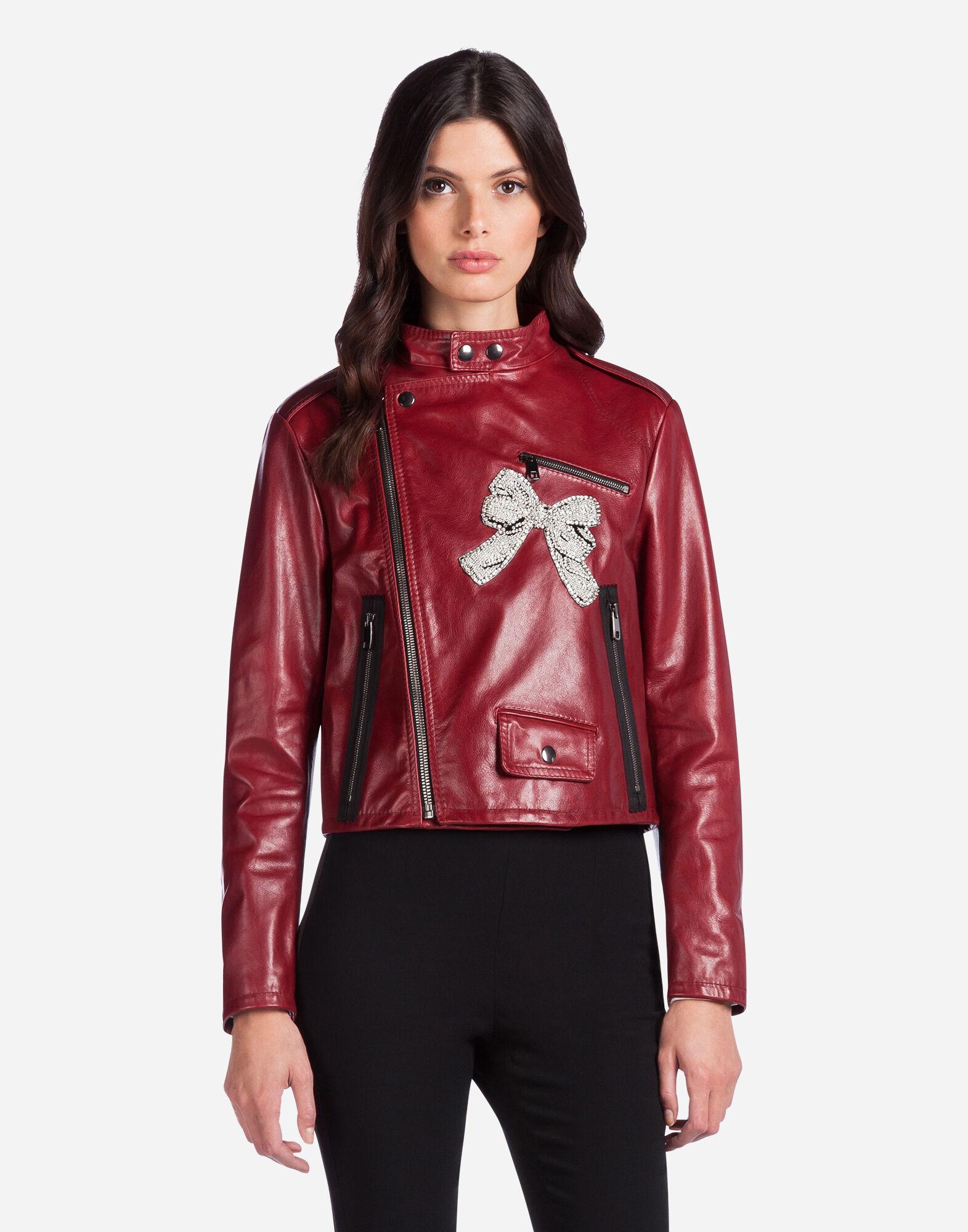 Куртка из кожи с вышивкой
