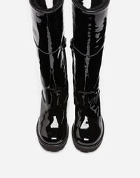 PATENT LEATHER BOOTS