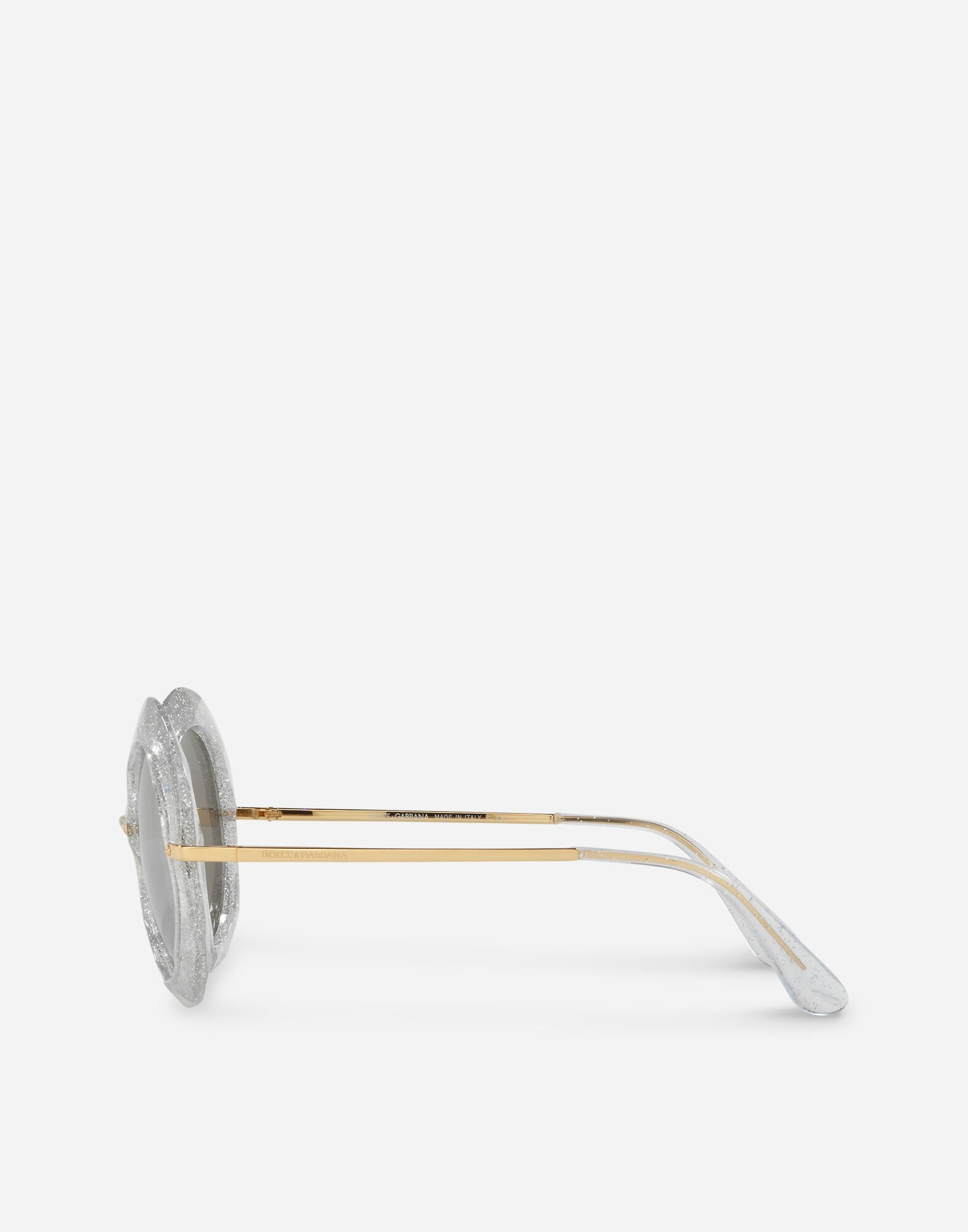 ROUND SUNGLASSES IN METAL AND ACETATE
