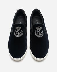 VELVET LONDON SLIP-ON SNEAKERS WITH EMBROIDERY