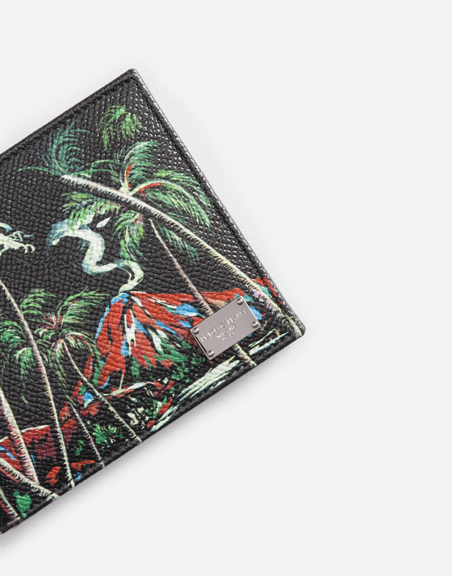 WALLET IN PRINTED DAUPHINE LEATHER