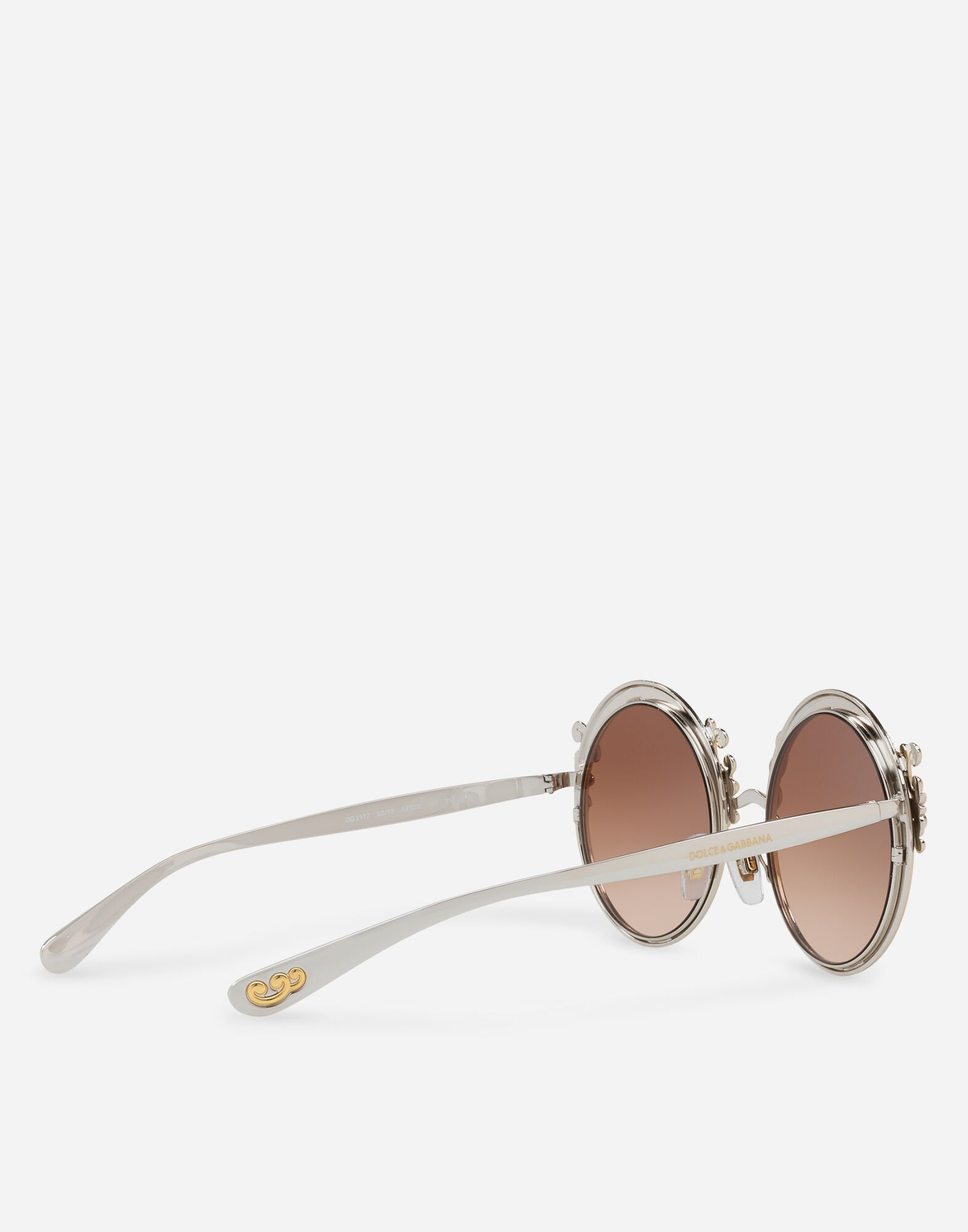 METAL SUNGLASSES WITH BAROQUE DETAILING