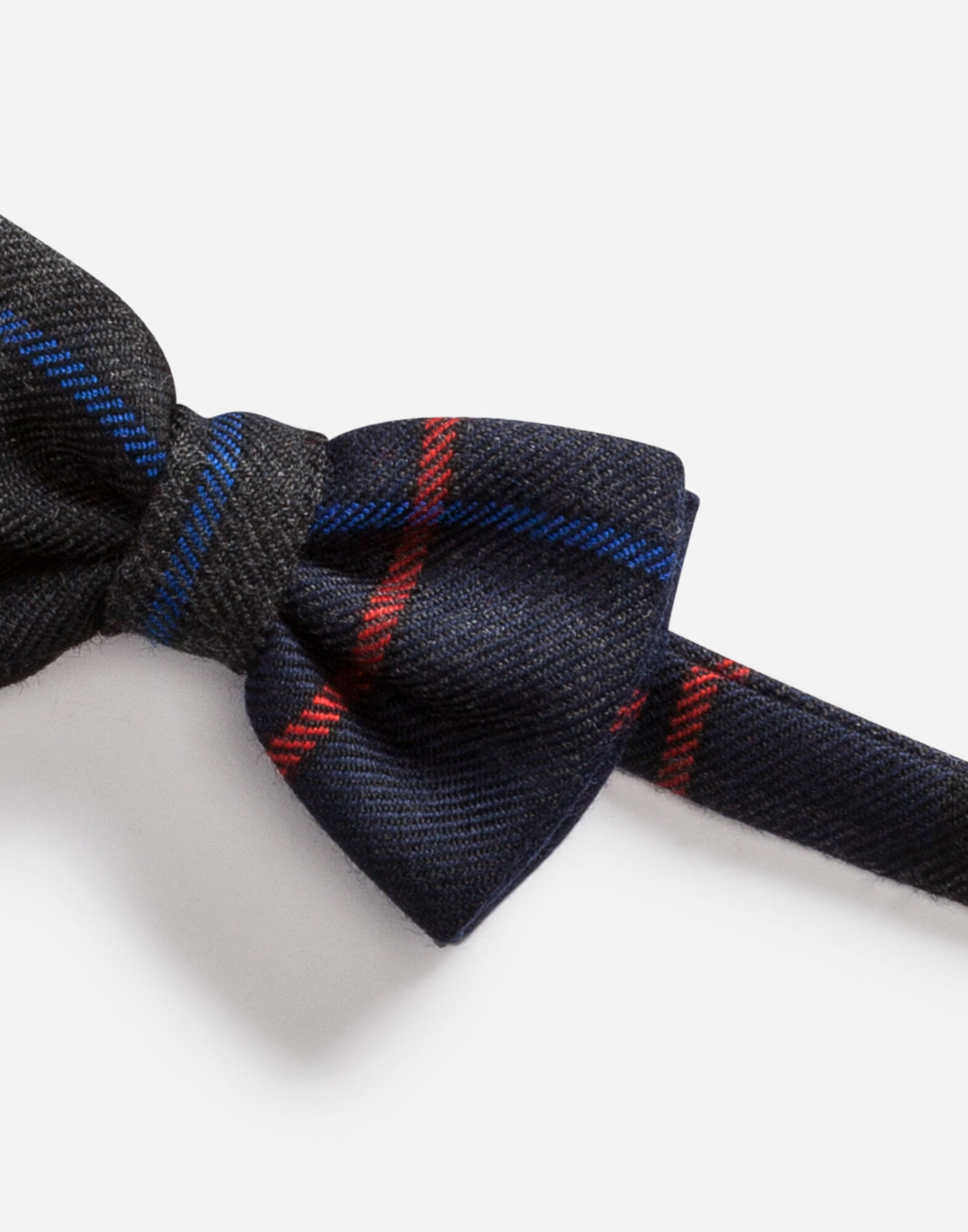 CHECK WOOL BOW TIE